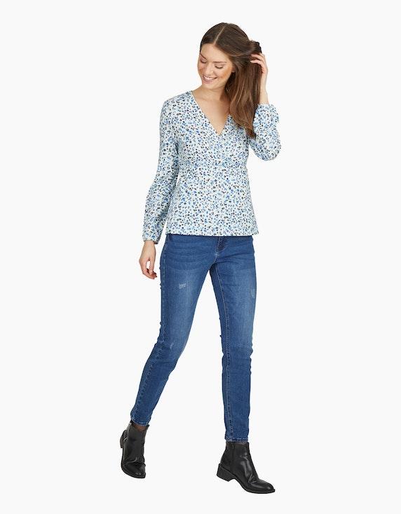 MY OWN Jeans-Hose mit Kontrastnähten und destroyed-Effekt in Denim Blue   ADLER Mode Onlineshop