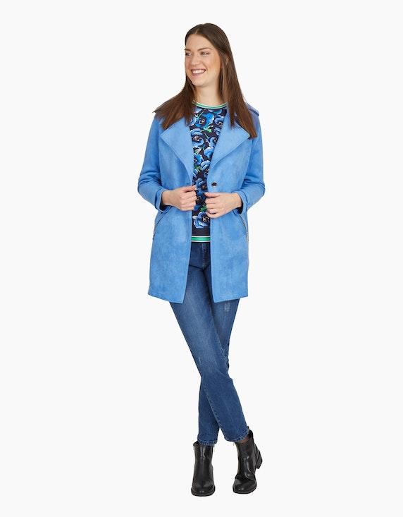 MY OWN Sweatshirt mit Blumen-Muster in Marine/Blau/Grün   ADLER Mode Onlineshop