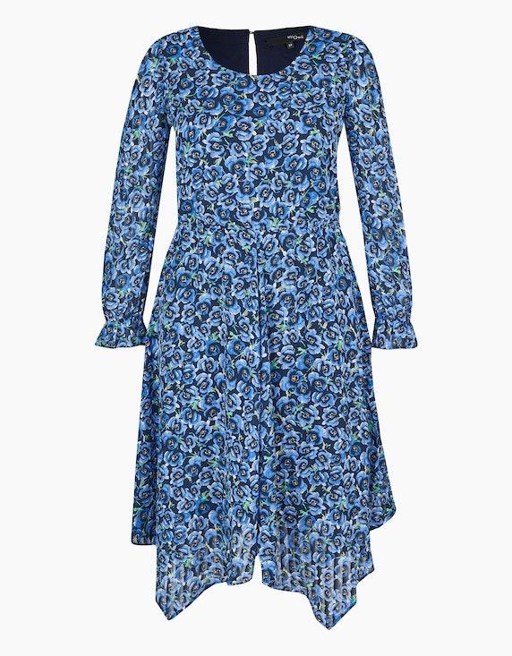 MY OWN Chiffon-Kleid mit floralem Druck in Marine/Blau | ADLER Mode Onlineshop