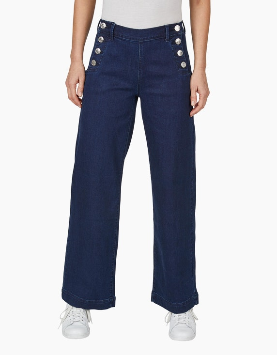 Via Cortesa Jeans mit zwei Knopfleisten und weitem Bein | ADLER Mode Onlineshop
