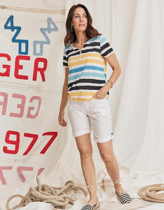 Via Cortesa leichtes Shirt im Streifen-Look | ADLER Mode Onlineshop