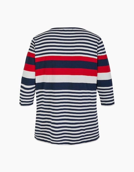 Thea Basic-Shirt im Streifen-Look, reine Baumwolle | ADLER Mode Onlineshop