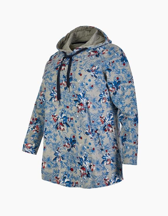 Thea Shirt mit Kapuze und floralem Muster   ADLER Mode Onlineshop
