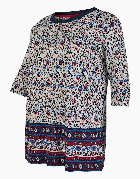 Thea Long-Shirt mit floralem Muster | ADLER Mode Onlineshop