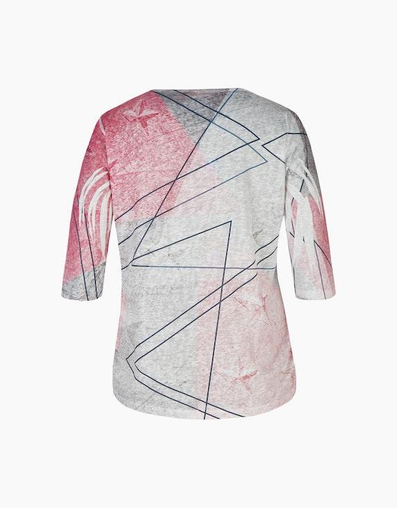 Thea Feinstrick-Shirt mit Letterprint und Muster   ADLER Mode Onlineshop