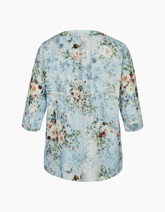 Thea Floral gemusterte Tunika mit Bindeband am Ausschnitt | ADLER Mode Onlineshop
