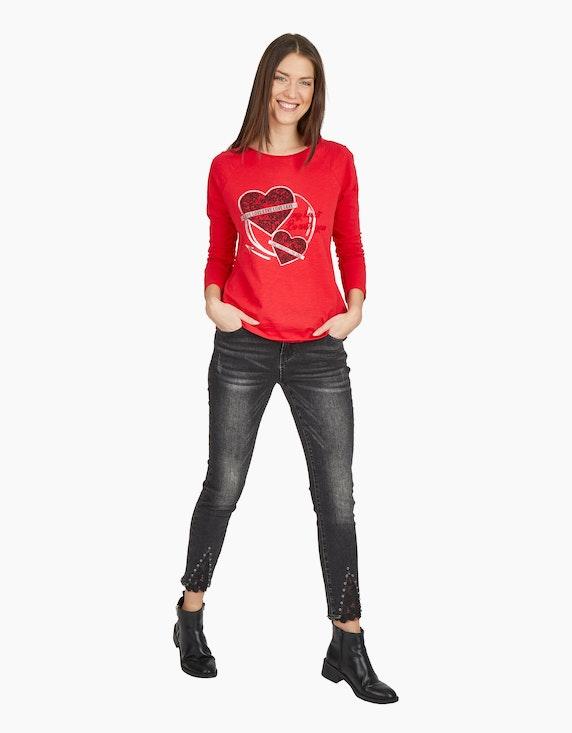 MY OWN Langarmshirt mit Herzprint   ADLER Mode Onlineshop