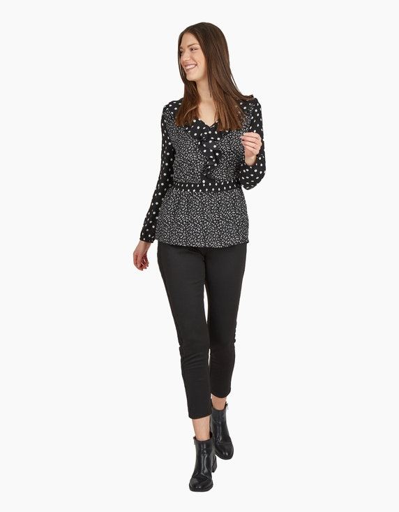 MY OWN Muster-Mix-Bluse mit gesmokter Taille | ADLER Mode Onlineshop