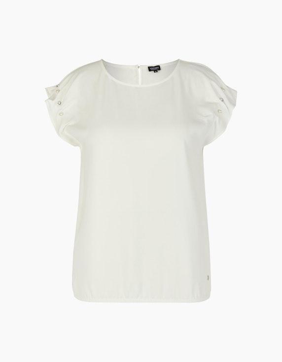 Viventy Bluse mit Zierdetails am Ärmel in Cremeweiß | ADLER Mode Onlineshop