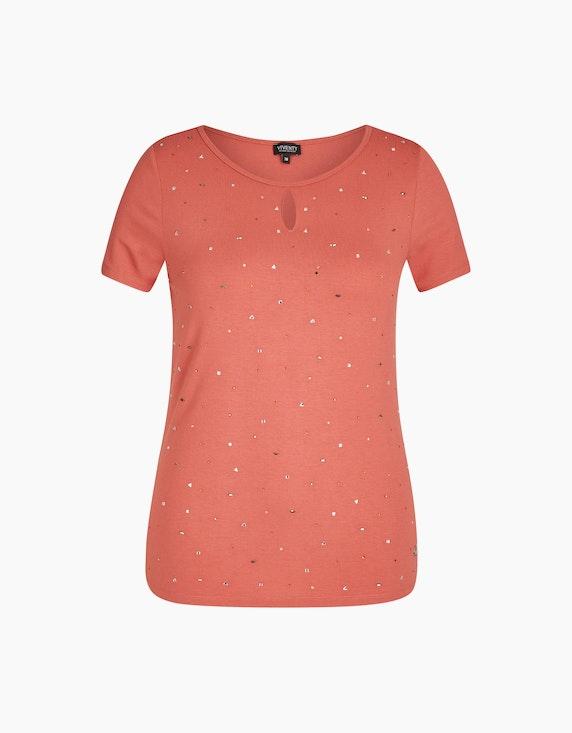 Viventy Kurzarmshirt mit Strasssteinen in Ziegelrot   ADLER Mode Onlineshop