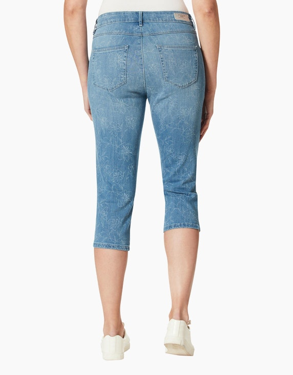 "Stooker Capri-Jeans ""Tahiti"" mit Blumenmotiven | ADLER Mode Onlineshop"