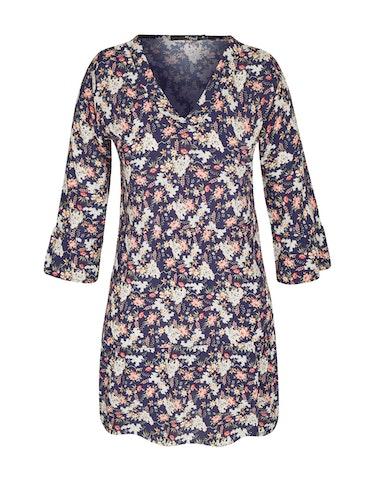 Produktbild zu Tunika-Kleid mit floralem Druck und Trompetenärmeln von MY OWN