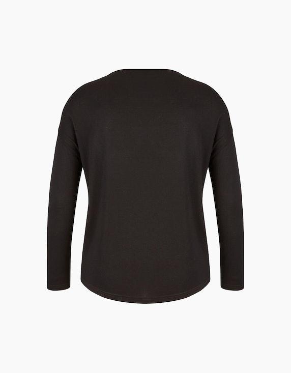 MY OWN Shirt mit Frontprint und Materialmix | ADLER Mode Onlineshop