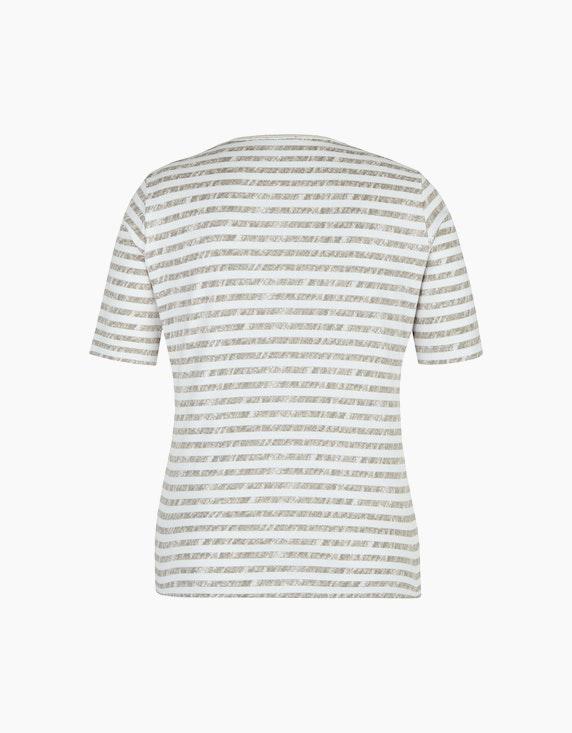 Rabe T-Shirt mit geringeltem Allover-Muster und Strass   ADLER Mode Onlineshop