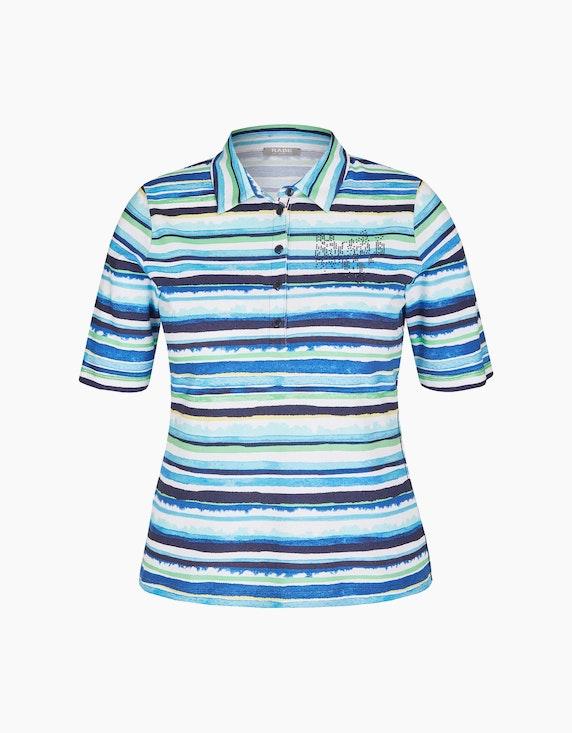 Rabe Poloshirt mit Streifenmuster und Strassbesatz   ADLER Mode Onlineshop
