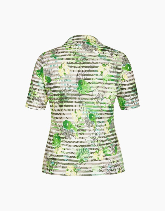 Rabe Extravagantes Poloshirt mit Mustermix   ADLER Mode Onlineshop