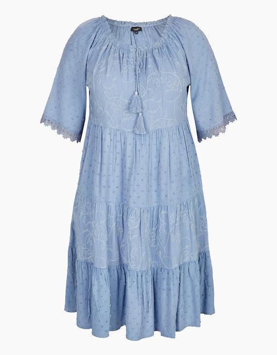 Bexleys woman Kleid im Boho-Stil in Hellblau | ADLER Mode Onlineshop