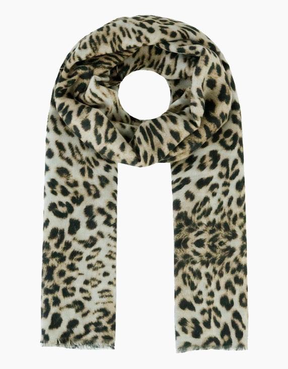 Adler Collection Schal mit Leoparden-Druck   ADLER Mode Onlineshop