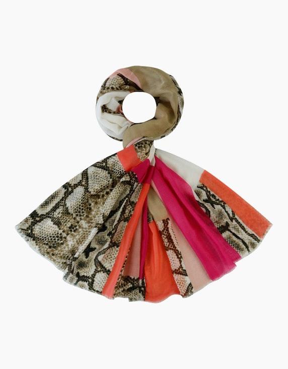 Adler Collection Schal im Streifendessin mit Schlangeneinsätzen   ADLER Mode Onlineshop