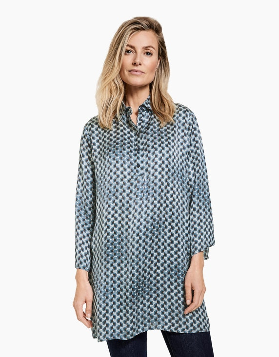 Gerry Weber Collection Longbluse mit Allover-Print | ADLER Mode Onlineshop