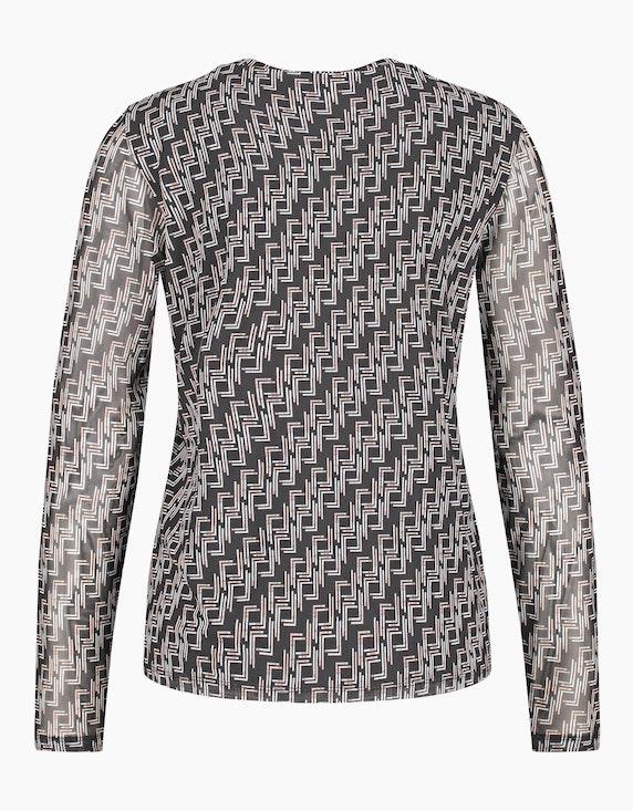 Gerry Weber Collection Langarmshirt aus Mesh | ADLER Mode Onlineshop