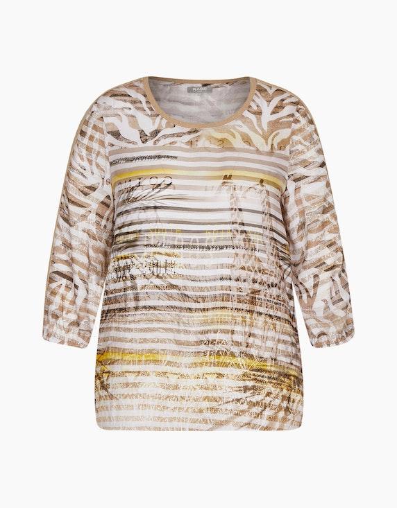 Rabe Shirt mit Streifen- und Palmenmuster   ADLER Mode Onlineshop