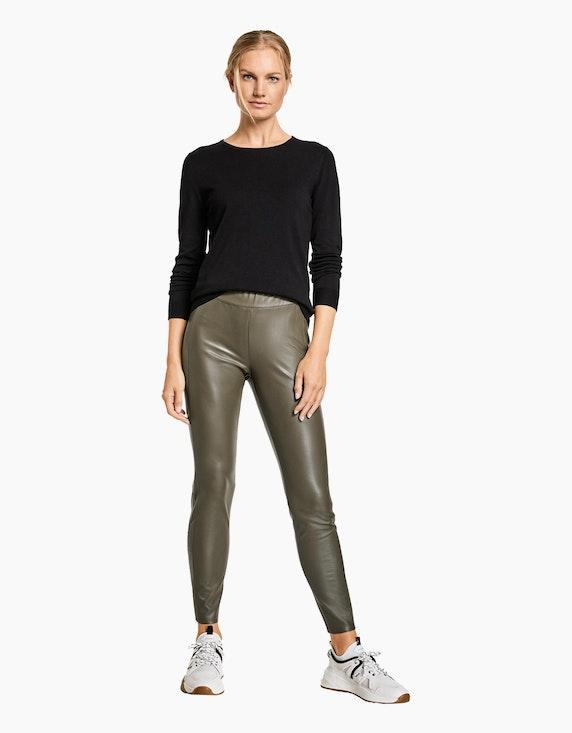 Gerry Weber Edition Hose in Lederoptik Slim Fit | ADLER Mode Onlineshop