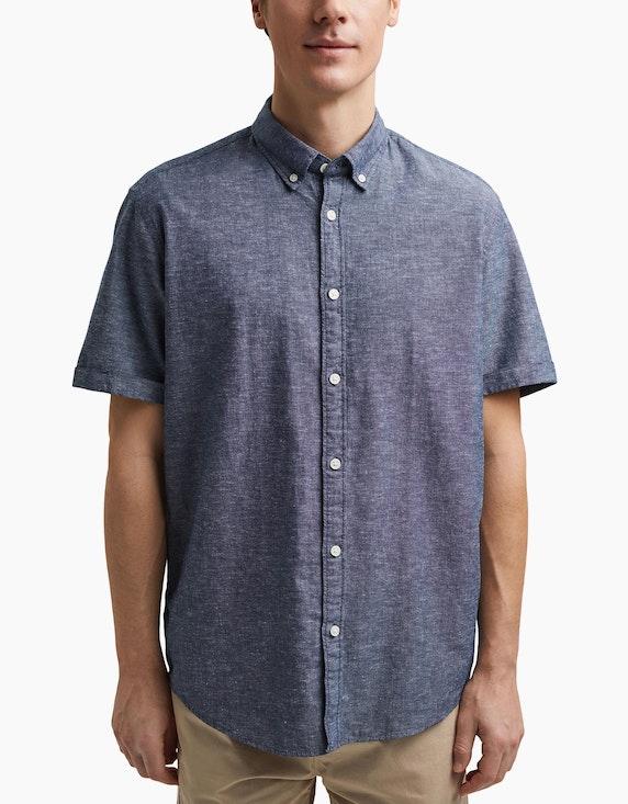 Esprit EDC Kurzarm-Hemd aus Leinen und Organic Cotton | ADLER Mode Onlineshop