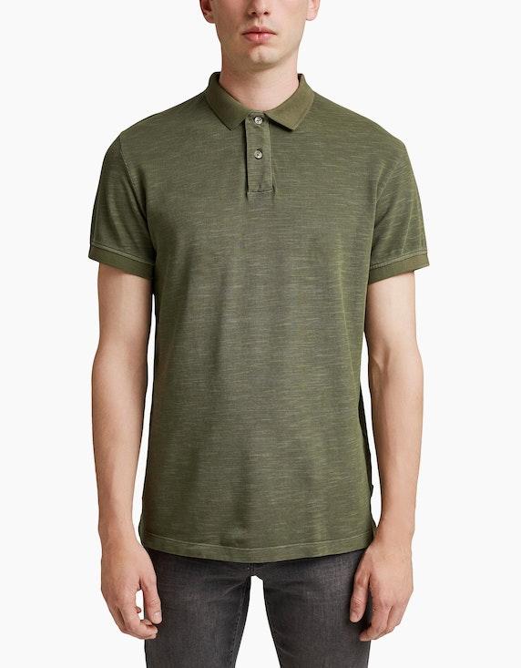 Esprit EDC Piqué-Poloshirt aus Organic Cotton in Slub-Optik | ADLER Mode Onlineshop