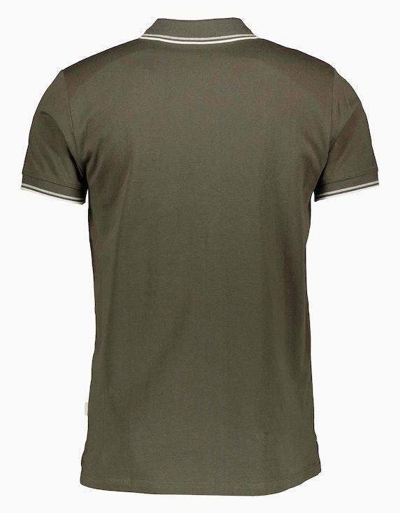 Esprit EDC Piqué-Poloshirt aus Organic Cotton mit Kontraststreifen | ADLER Mode Onlineshop