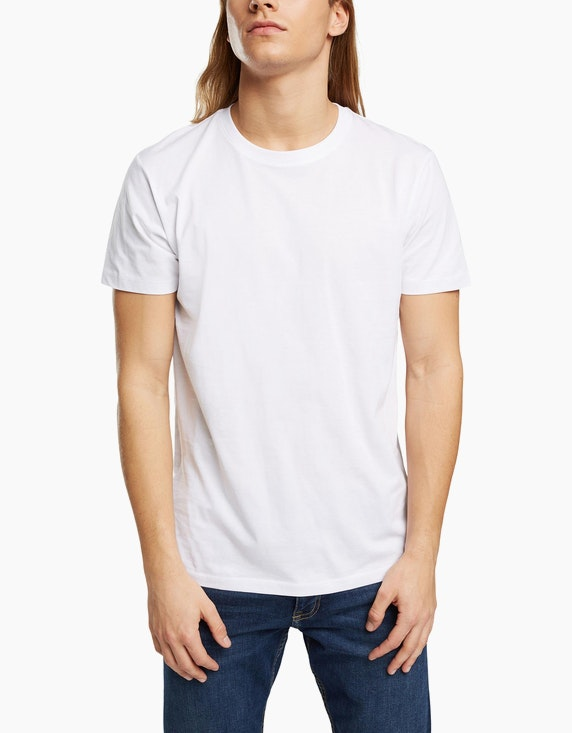 Esprit EDC Basic-Shirt aus Bio-Baumwolle | ADLER Mode Onlineshop