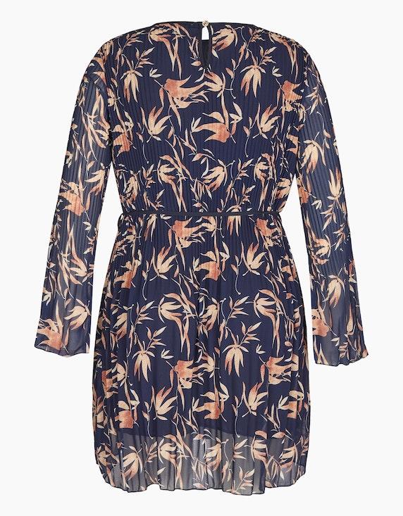 Made in Italy Plissee-Kleid mit Blätter-Druck   ADLER Mode Onlineshop