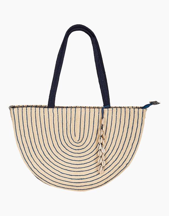 Bexleys woman Strandtasche in Beige/Blau | ADLER Mode Onlineshop