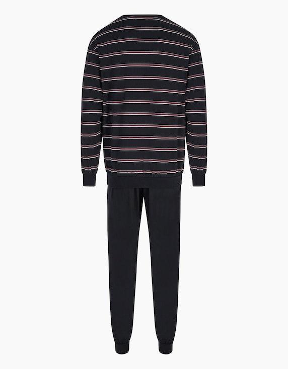 Bexleys man Pyjama mit Rippbündchen am Beinabschluss | ADLER Mode Onlineshop