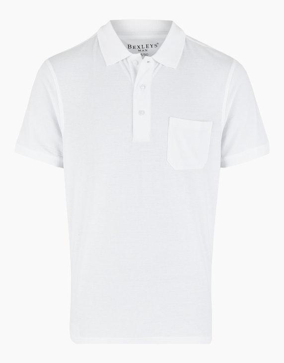 Bexleys man Poloshirt uni, GOTS in Weiß   ADLER Mode Onlineshop