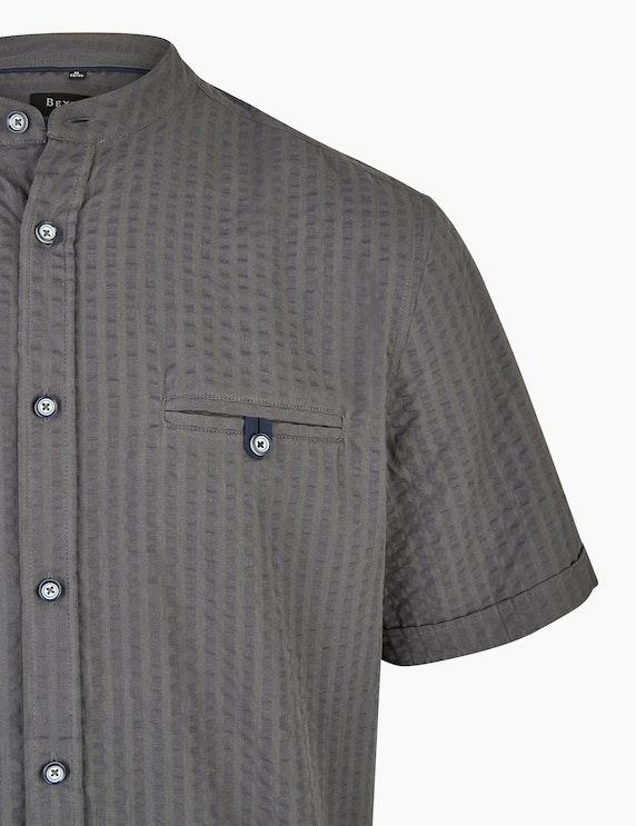 Bexleys man Freizeithemd in Seersucker mit Brusttasche, REGULAR FIT | ADLER Mode Onlineshop