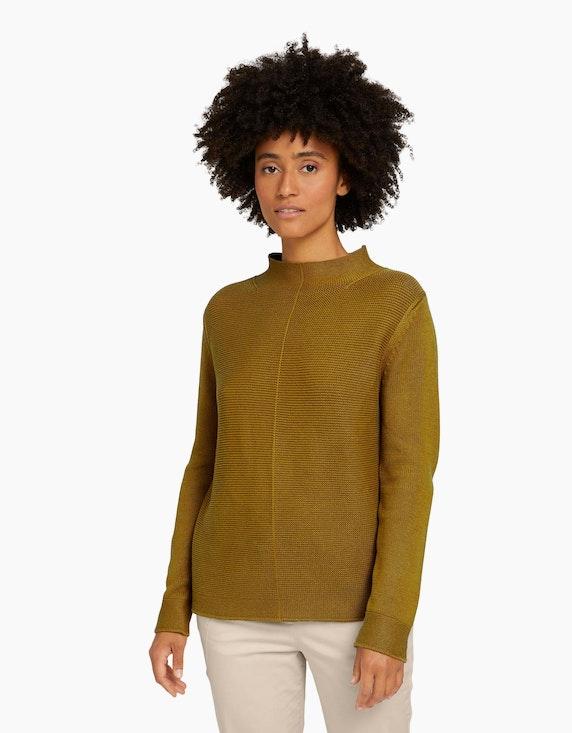 Tom Tailor Strukturierter Pullover mit Bio-Baumwolle   ADLER Mode Onlineshop