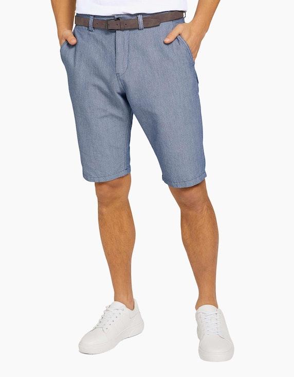 Tom Tailor Strukturierte Josh Chino Shorts mit Gürtel   ADLER Mode Onlineshop