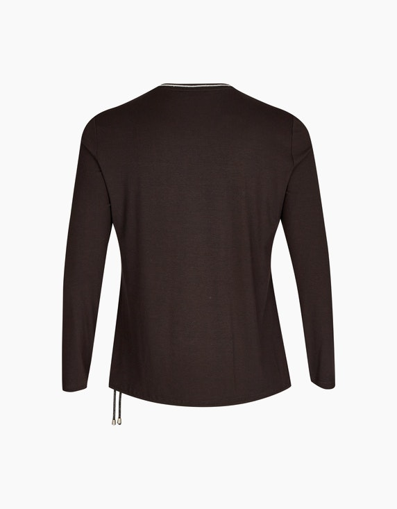 No Secret Langarmshirt im Muster- und Material-Mix | ADLER Mode Onlineshop