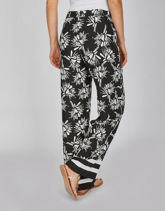 Bexleys woman Palazzo-Hose mit Blumen und Streifen | ADLER Mode Onlineshop