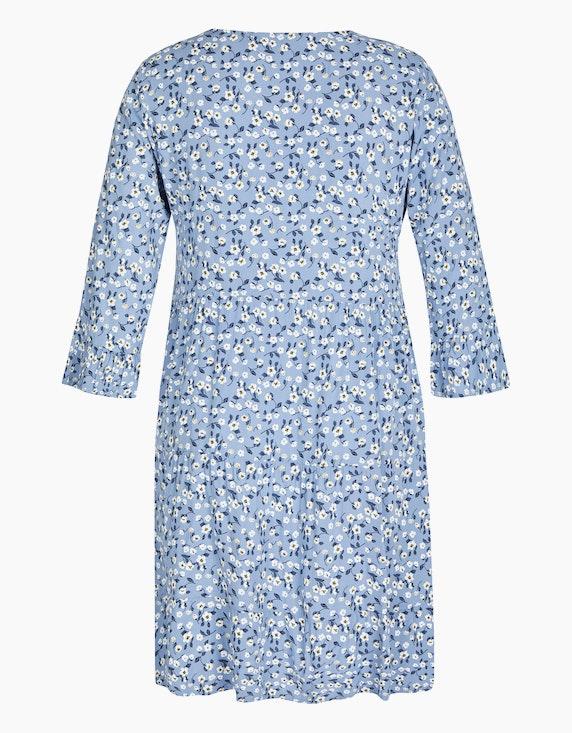 Made in Italy Stufenkleid mit floralem Druck   ADLER Mode Onlineshop
