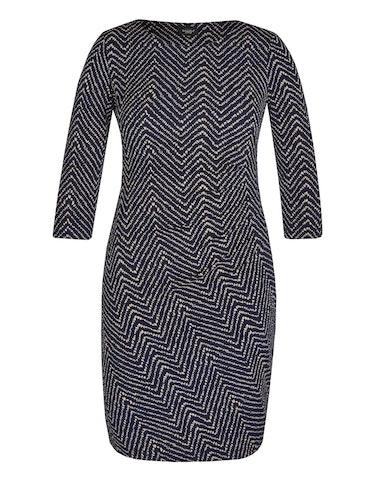 Produktbild zu Jerseykleid mit Zick-Zack-Muster von Bexleys woman