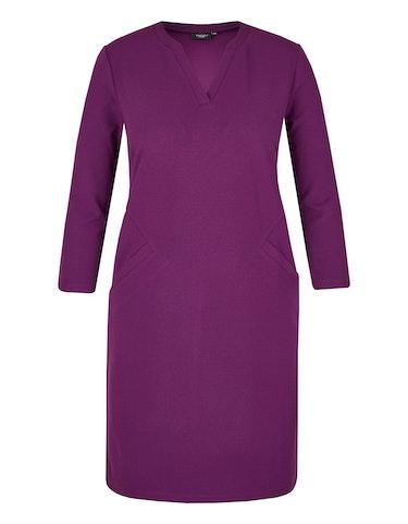Produktbild zu Crêpe-Kleid mit raffinierten Teilungsnähten von Bexleys woman