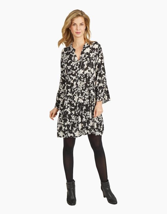 Made in Italy Stufenkleid mit Glitzer-Plumetis   ADLER Mode Onlineshop