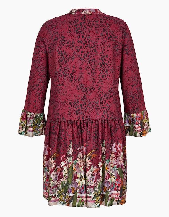Made in Italy Kleid mit Leo- und Blumen-Muster   ADLER Mode Onlineshop