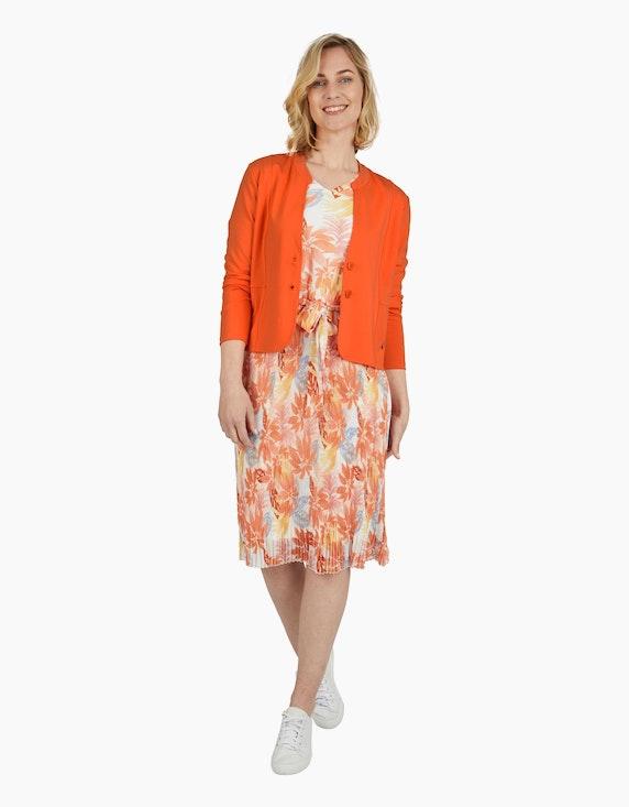 Steilmann Woman Chiffonkleid mit exotischem Druck in Orange/Apricot/Gelb/Hellblau/Ecru | ADLER Mode Onlineshop