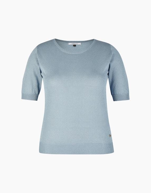 Steilmann Woman Feinstrickpullover mit halblangen Ärmeln in Bleu | ADLER Mode Onlineshop