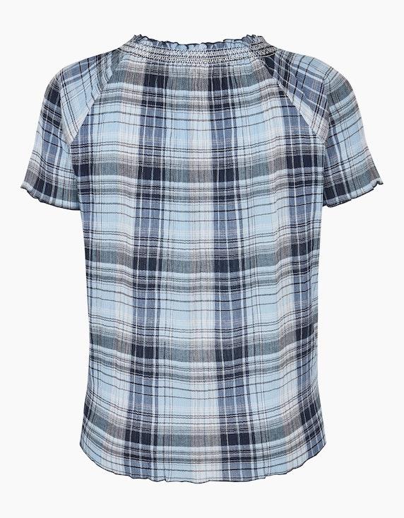 Thea Karo-Bluse aus reiner Baumwolle   ADLER Mode Onlineshop