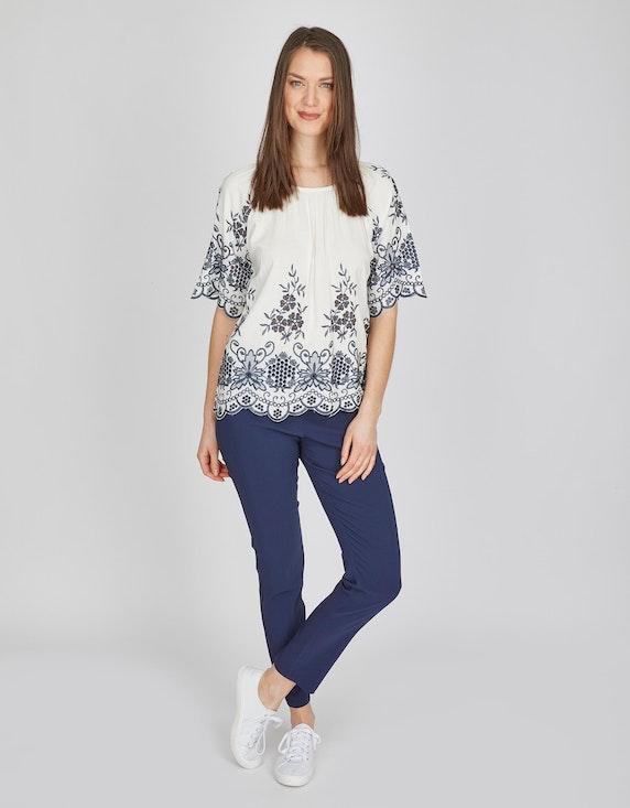 MY OWN Bluse mit Lochstickerei in Kontrastfarbe | ADLER Mode Onlineshop