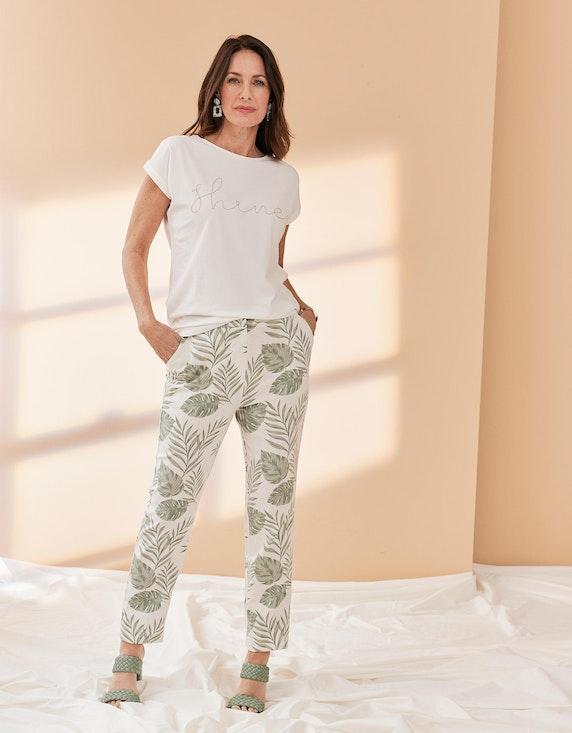 Bexleys woman Kurzarmshirt mit verzierter Front in Creme | ADLER Mode Onlineshop